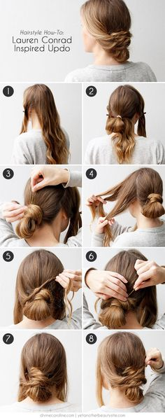 This elegant updo is super simple and requires hardly any time – pin it for later! #hairhelp #updo #longhair