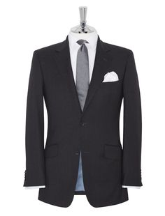 Moore Regular Fit 2-Button Charcoal Suit TM Lewin