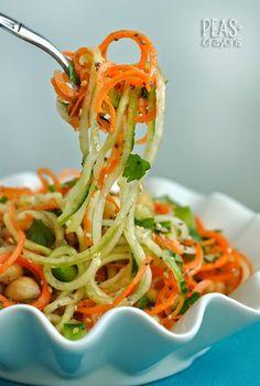 Gluten-Free Sweet and Sour Thai Cucumber Pasta Salad