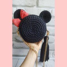 Etsy Miss Minnie mouse Source by de croche fio de malha com grafico Free Crochet Bag, Crochet Baby, Knit Crochet, Crochet Granny, Crochet Handbags, Crochet Purses, Crochet Backpack, Crochet Mouse, Knitted Bags