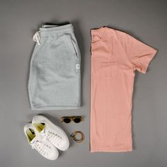 Outfit grid - Men's activewear - Doris Home Summer Outfits Men, Cool Outfits, Casual Outfits, Men Casual, Summer Men, Basic Outfits, Latest Mens Fashion, Fashion Mode, Fashion Outfits