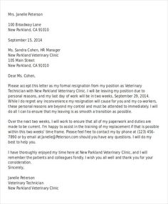 Positive Letter Of Resignation from i.pinimg.com
