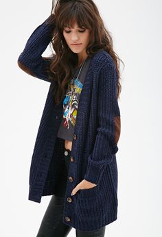 Chunky Knit V-Neck Cardigan | FOREVER21 - 2000101697