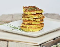 Zucchini, chickpea, feta fritters would make great baby finger food.