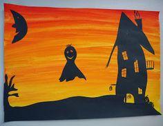 Kunst in der Grundschule: Halloween                                                                                                                                                     More