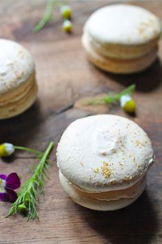 chamomile macarons vanilla bean buttercream