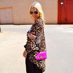 Slouchy Leopard Neon
