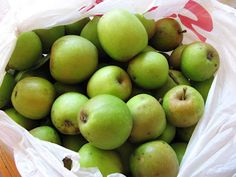 """Crabapples: 27 recipes """"A crab apple is simply a very small apple, 2 inches or less in diameter when fully ripe. If you like sour apples, you will probably enjoy eating crab apples without any sweeteners - although it's true that some varieties are more sour than others."""""""