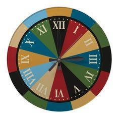Games Room Dart Board Colorful Vintage Clock $28.10