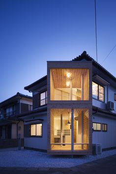 Box Glasses is a minimalist residence located in Tokushima, Japan, designed by Container Design