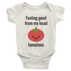 Feeling good from my head tomatoes onesie Organic by Hungryveganco