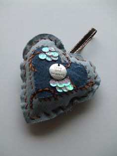 Sachet - upcycled recycled denim, filled with lavender