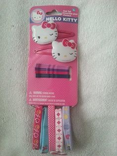 Hello Kitty Hair Set * Read more reviews of the product by visiting the link on the image. (This is an affiliate link) Hair Setting, Hair Pins, Hello Kitty, Image Link, Amazon, Bobby Pins, Amazons, Riding Habit, Amazon River