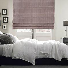 Elegant Plaid Print Polyester Roman Shade – USD $ 49.99