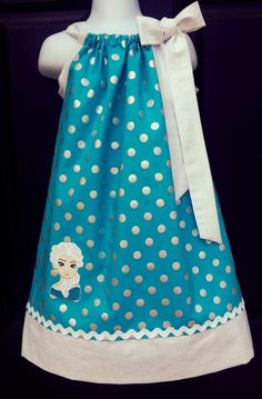 Frozen Elsa Pillowcase Dress by NurseswithNotions on Etsy, $30.00