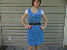 Vintage 1990's sleeveless denim dress by Vintage by honeybeeMaries, $30.00