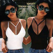Sexy Women Cut-Out Bra Crop Bustier Bralette Corset Tops Tank Top Blouse T-Shirt