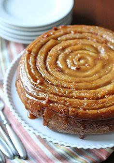 Butterscotch Spiral Coffee Cake. Decadent dessert for breakfast.