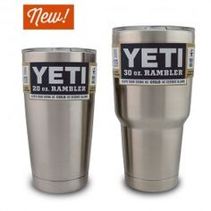 yeti rambler 20 & 30 oz - by yeti coolers (known for keeping things really cold) $29.99