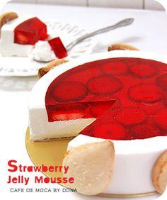 Strawberry jelly Mousse | Bakingschool.co.kr
