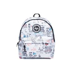 Doodles Backpack by Hype (135 RON) ❤ liked on Polyvore featuring bags, backpacks, multi, polyester backpack, daypack bag, knapsack bag, day pack backpack and rucksack bags