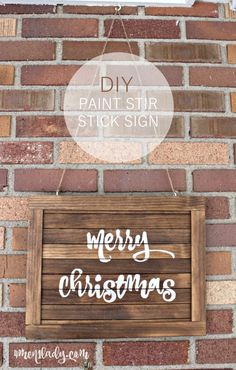 DIY Paint Stir Stick Sign by Ace Blogger @4men1Lady