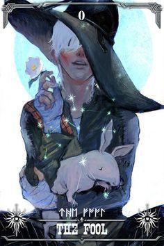 Cole - Dragon Age Tarot 0 - The Fool (Tarot Card) The Fool Tarot Card. †he fool Tarot Dnd Characters, Fantasy Characters, Cole Dragon Age, Character Inspiration, Character Art, Dragon Age Tarot Cards, Dragon Age Origins, Dragon Age Inquisition Cole, Dragon Age Series