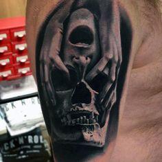 Men's Shoulder Skull Tattoos