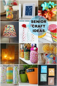 Crafts for Seniors: easy crafts for senior citizens to make