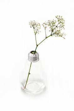 Small light bulb vase [ #decoration #interior #design #vase #lightbulb ]