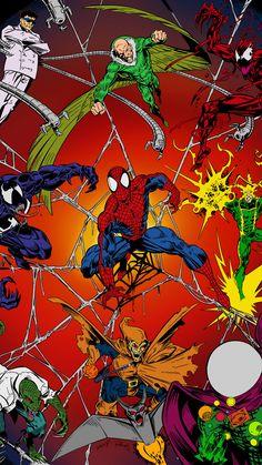 Spiderman Kunst, Black Spiderman, Amazing Spiderman, Spiderman Marvel, Man Wallpaper, Marvel Wallpaper, Marvel Comics Art, Marvel Heroes, Comic Villains