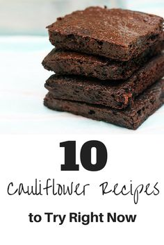 Cauliflower Recipes #newfoodideas #healthyliving