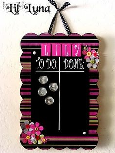 magnet chore board ... my girls need one of these... bet I could make one!!