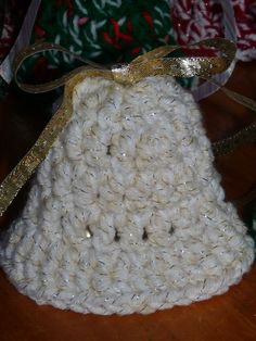 Crochet Bells with Bow and Real Bell Ten Pack by NancysCrochet, $15.00