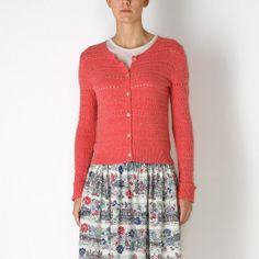 Knitwear | Pink Vintage Stitch Cardigan | CathKidston