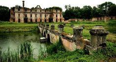 Dohn family palace ruins in Slobity, Poland.