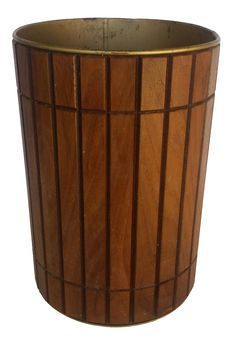 Vintage Gruvwood Trash Can Waste Basket On Chairish.com