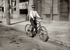 Instant Messenger: November 1913. Shreveport, Louisiana. Fourteen-year-old Messenger #2 for Western Union. Says he goes to the Red Light district all the time. Photograph and caption by Lewis Wickes Hine.