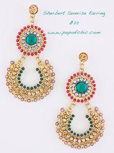 Sherbert Sunrise Earring $22 www.popofchic.com