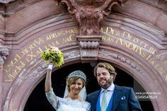 Princess Viktoria of Prussia wed Prince Ferdinand of Leiningen, yesterday, 16 September 2017
