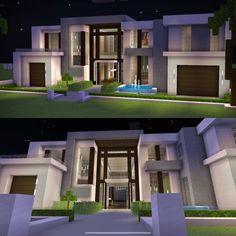 Minecraft Modern Mansion, Minecraft House Plans, Minecraft Cottage, Easy Minecraft Houses, Minecraft House Tutorials, Minecraft Room, Minecraft House Designs, Amazing Minecraft, Minecraft Creations