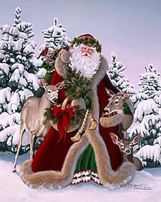 Woodland Father Christmas by Margaret Cobane