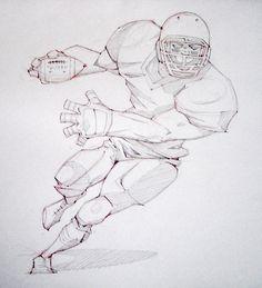 41 ideas sport drawing football behance for 2019 Football Poses, Football Art, Sport Football, Anatomy Sketches, Drawing Sketches, Sports Drawings, Football Drawings, Character Illustration, Illustration Art