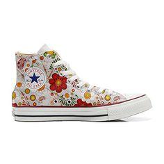 Converse All Star Hi Customized personalisierte Schuhe (Handwerk Schuhe) Elegant Paisley size 42 EU