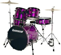 Click Image Above To Purchase: Ludwig Accent Cs Combo Exclusive Shell Pack Purple