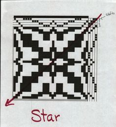 WEAVING FOR FUN: Rose and Star Fashion of Weaving Overshot