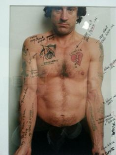Martin Scorsese overlays potential tattoos for Robert De Niro in Cape Fear (1991)