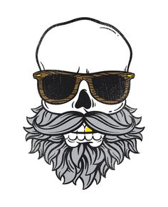Bearded Skull Art Print