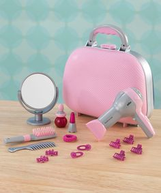 Another great find on #zulily! Beauty Case Play Set by KidKraft #zulilyfinds