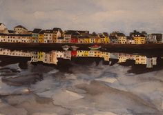 'The Long Walk - Reflections' by Fiona Concannon on ArtClick. West Coast Of Ireland, Connemara, Long A, Reflection, Walking, Artist, Outdoor, Paintings, Outdoors
